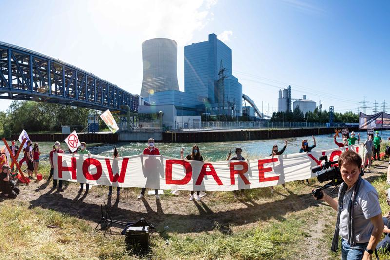 Datteln 4 geht ans Netz, Protest vorort