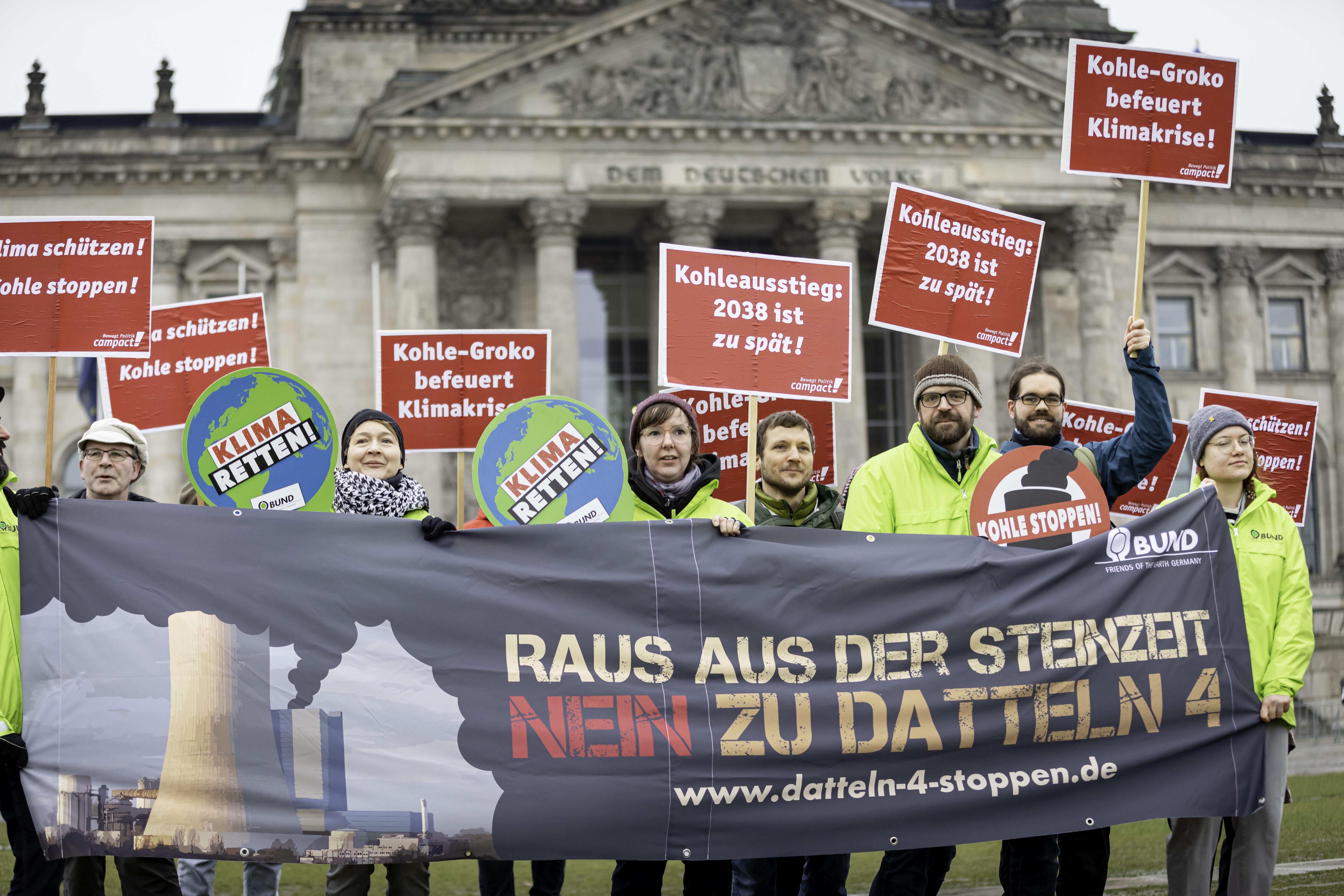 Datteln 4 Protest vor dem Bundestag