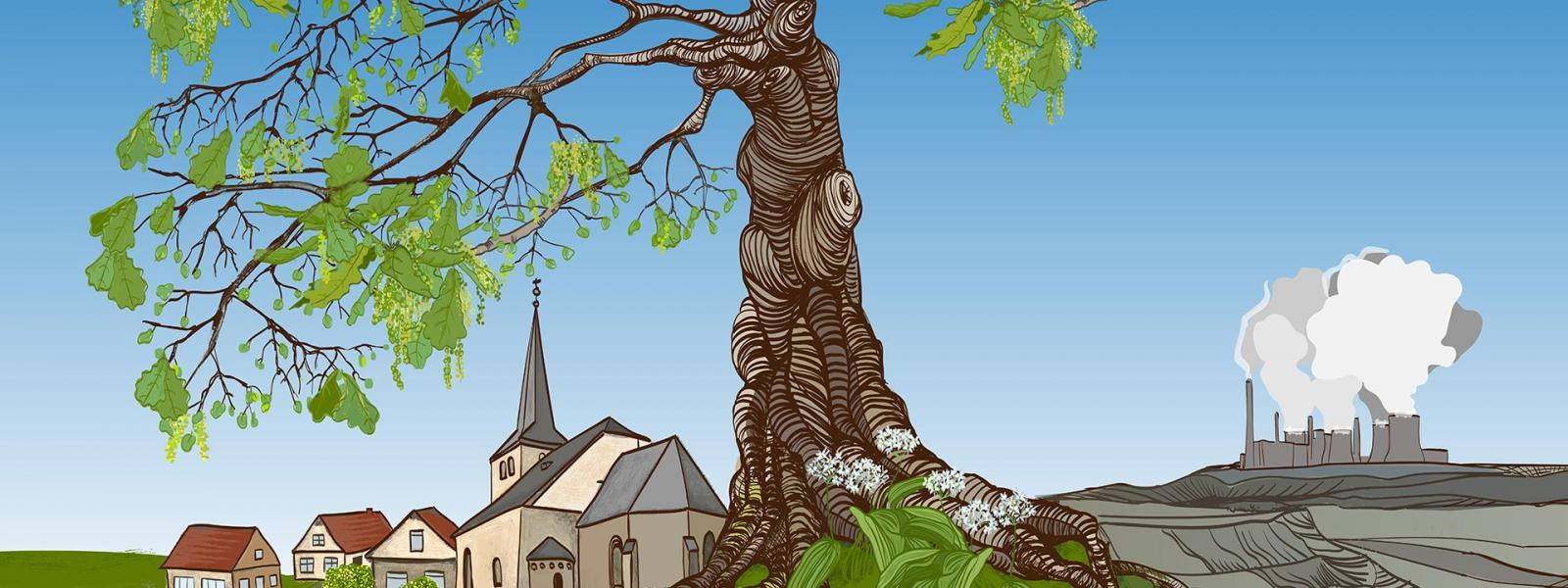 Ran ans Werk! Wald und Dörfer retten!